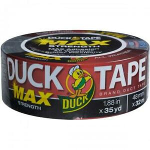 Max Strength Duck Tape 1 88 x35yd black Msdt 867