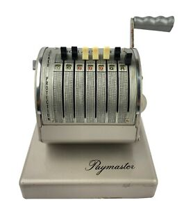 Vintage Paymaster Series X 900 Check Writer With Key Cover Included Euc