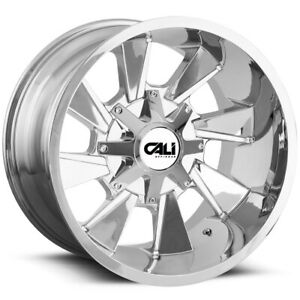 4 Cali Off Road 9106 Distorted 20x9 6x135 6x5 5 18chrome Wheels Rims 20 Inch