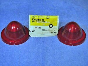 1959 Buick Delco Guide Tail Lamp Lenses Nos