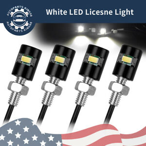 4x White Car License Plate Screw Bolt Light Bulbs Lamp Led Smd Motorcycle 12v