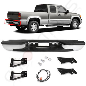Rear Bumper For 1999 2007 Chevy Silverado Gmc Sierra 1500 Chrome Steel