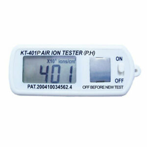 Mini Air Ion Counter Tester ve Peak Hold Blue Clip Ground Armband Kt 401p