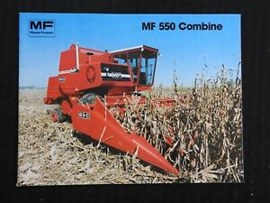 1978 Massey Ferguson Mf 550 Mf550 Combine Catalog Sales Brochure Mint Shape