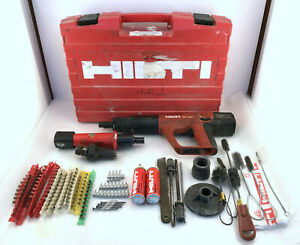 Hilti Dx A41 Powder Actuated Nail Gun With Accessories And Case
