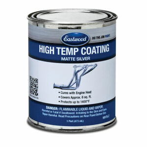 Eastwood High Temperature Coating Silver Paint 1 Pint
