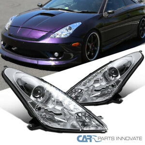 For 00 05 Toyota Celica Projector Headlights Head Lamps W Led Lights Left Right