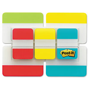 Post it Tabs Value Pack Asst Primary Colors 1 And 2 Sizes 114 tabspack