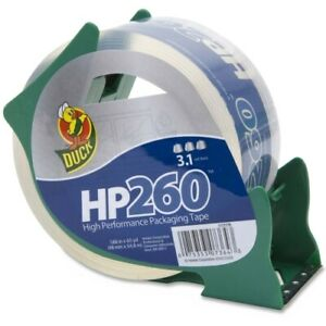 Henkel Duck Hp260 Packaging Tape With Dispenser 3 Core 1 88 X 60 Yds Clear
