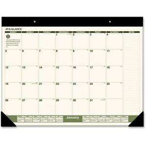 At a glance Recycled Monthly Desk Pad 22 X 17 2022