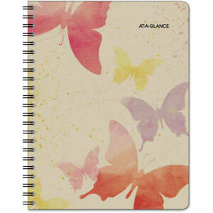 Recycled Watercolors Weekly monthly Planner Design 8 1 2 X 11 2014