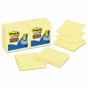 Post it Notes Super Sticky Super Sticky Pop up Refill 3 X 3 Canary Yellow 12