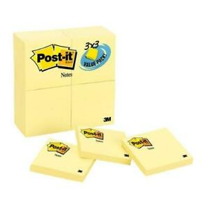 Post it Notes Original Notes 3 X 3 Canary Yellow 24 90 sheet Pads pack Pk