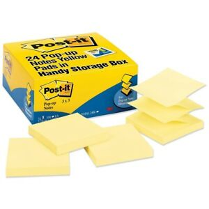 Post it Pop up Notes Pop up Note Refills 3 X 3 Canary Yellow 24 100 sheet Pad