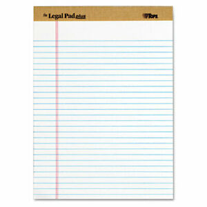 Tops The Legal Pad Ruled Perforated Pads 8 12 X 11 3 4 White 12 pack Pk T