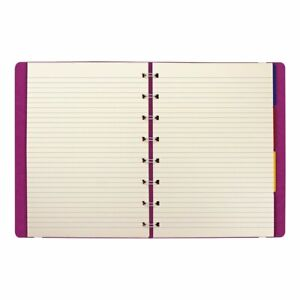 Filofax notebook College Rule Pink Cover 8 1 4 X 5 13 16 112 Sheets pad