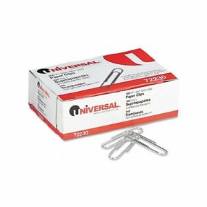 Universal Paper Clips Small no 1 Silver 100 Clips box 10 Boxes pack
