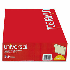 Universal File Folders Straight Cut Two ply Top Tab Legal Manila 100 box B