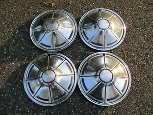 Factory 1973 To 1976 Plymouth Duster Valiant 14 Inch Metal Hubcaps Wheel Covers