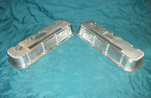 Polished Aluminum Mickey Thompson M T Bbc Chevy Valve Covers 396 402 427 454