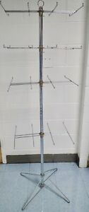 Retail 4 tier Spinning Wire Rack Display Stand For Carded Merchandise