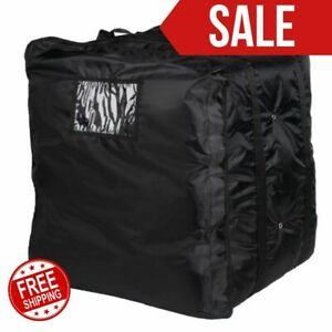 Insulated Pizza Delivery Bag Black Soft Sided Heavy Duty Nylon 20 X 20 Kitchen