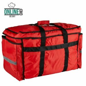 Heavy duty Insulated Red Nylon Soft sided Food Delivery Bag Pan Carrier Kitchen