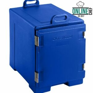 16 3 4 X 24 X 25 Blue Front Loading Insulated Food Pan Carrier Restaurant Bar