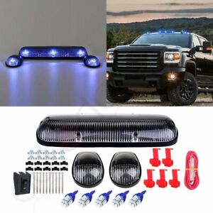 3x Clear Cab Roof Marker Lights 3528 12v Led For Chevy Silverado gmc Sierra