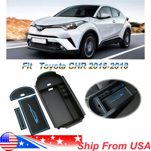 Car Center Console Storage Organizer Box For Toyota Chr 2016 2019 Coin Collecter