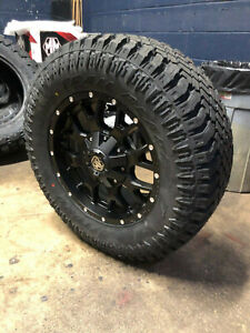Mayhem Warrior Black 18x9 Wheels 33 Atturo Xt Tires 8x180 Gmc Sierra 2500 Hd