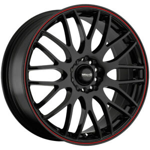 4 maxxim 42b Maze 16x7 5x100 5x4 5 40mm Black red Wheels Rims 16 Inch