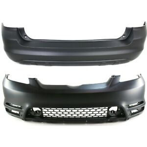 Front Rear Bumper Cover Set For 2003 2004 Toyota Matrix Xrs Xr W Spoiler