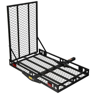 Orcish Wheelchair Carrier 500lb Capacity Foldable Loading Heavy Duty Hitch Cargo