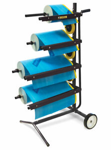 Eastwood Mobile Handy Masking Machine Station Tree Type 4tier Holds 18 12 Rolls