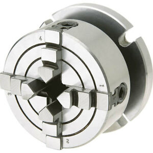 Shop Fox D3754 2 3 4 Inch 4 Jaw Lathe Chuck With Screw On Pedestal Back Plate