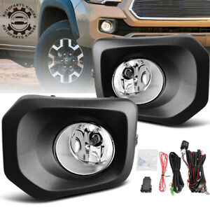 For 2016 2018 Toyota Tacoma Clear Bumper Fog Light Lamps W Bulbs Switch Kit Us