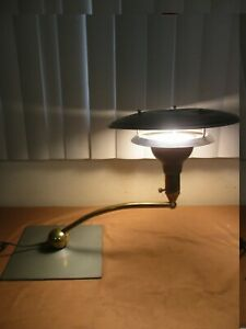 Vintage Mid Century Modern Atomic Ufo Flying Saucer Table Lamp 1960 S