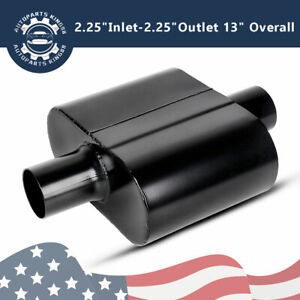 2 25 Inlet Outlet Single Chamber Performance Race Exhaust Mufflers Universal