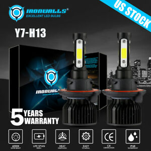 Auto Parts 4 Sides H13 Led Bulbs Headlight Kit 2400w 360000lm 6500k Super Bright