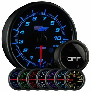 Glowshift Tinted 7 Color 3 3 4 In Dash Tachometer Gauge