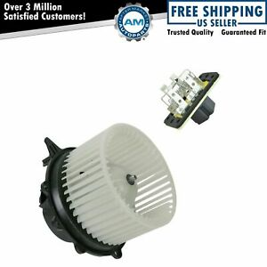 A c Ac Heater Blower Motor W Fan Cage Resistor Kit For Ford Lincoln