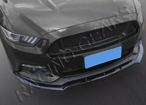 Fit 2015 2017 Ford Mustang Painted Black Front Bumper Splitter Spoiler Lip 3pcs