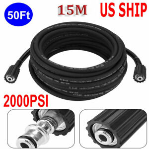 50 Ft 2000 Psi High Pressure Washer Hose M22 Connector Replacement Hose New