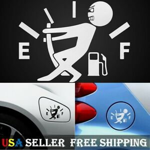 2 Pack Funny Car Vinyl Sticker High Gas Consumption Decal Fuel Gage Empty
