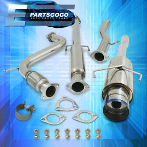 For 94 97 Accord 4cyl High Performance Burnt Tip Muffler Catback Exhaust System