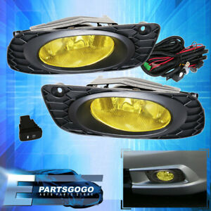 For 2012 Honda Civic 4 Door Yellow Lens Fog Lights Driving Lamps Replacement Kit