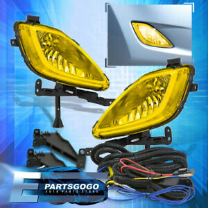 Yellow Lens Fog Lights Driving Lamps Replacement Kit For 11 13 Hyundai Elantra