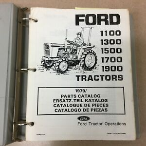 Ford 1100 1300 1500 1700 1900 Parts Manual Catalog Book Tractor List Guide 17281