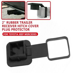 2 Inch Rubber Trailer Hitch Tube Cover Receiver Plug Fits Jeep Mercedes Toyota